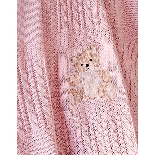 Baby Bear Visco Embroidered Private Set Pink by Karaca Home