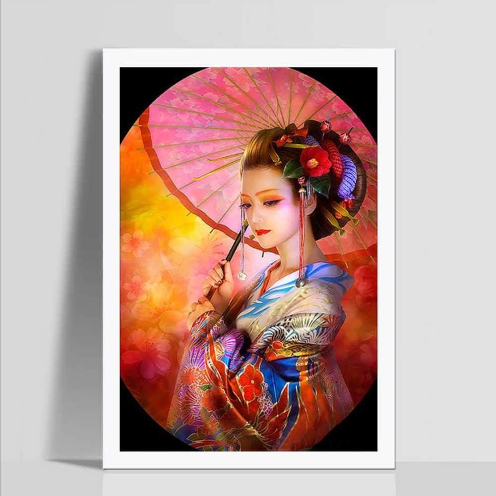 Set of 2 Large Chinese Girl  Woman Diamond Painting kit Set of 2 DIY painting