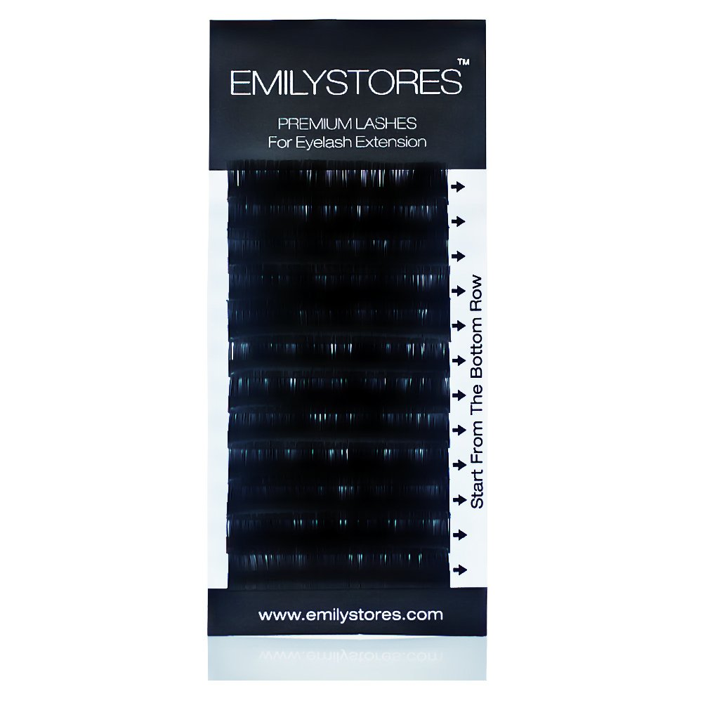 EMILYSTORES Eyelash Extensions 0.20mm Thickness C Curl Length 8-14mm Mixed Assorted Sizes Silk Mink Fake Eye Lashes In One Tray