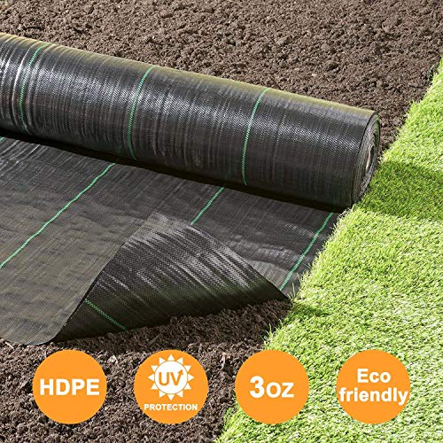 Agfabric Landscape Fabric Weed Barrier Ground Cover Garden Mats for Weeds Block in Raised Garden Bed, 4 Ft X 50 Ft by Agfabric