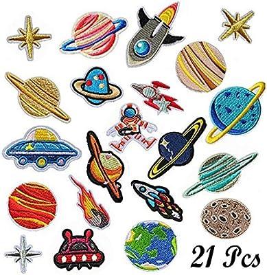 Patch Sticker, Woohome 21 Pz Parche Termoadhesivo, Sistema solar ...