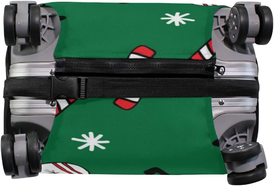 GIOVANIOR Christmas Llama Alpaca Green Luggage Cover Suitcase Protector Carry On Covers