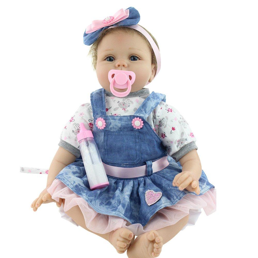 dirance Lifelike Reborn人形Sleepingソフトシリコンフルボディリアルなピンクガールズ人形ビニールreallike新生児赤ちゃん人形with Clothes 55 cm、子供ギフトfor Ages 3 +、under 100ドル F ピンク DR  ピンク B07BVW8DZW