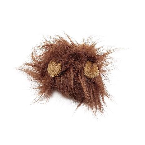GerTong - Peluca de león para Gato, Halloween, Navidad, Fiesta, Vestido con