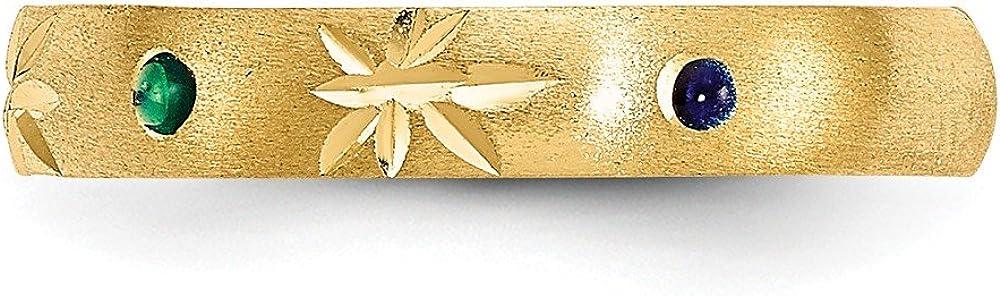 14K Yellow Gold Enameled Toe Ring