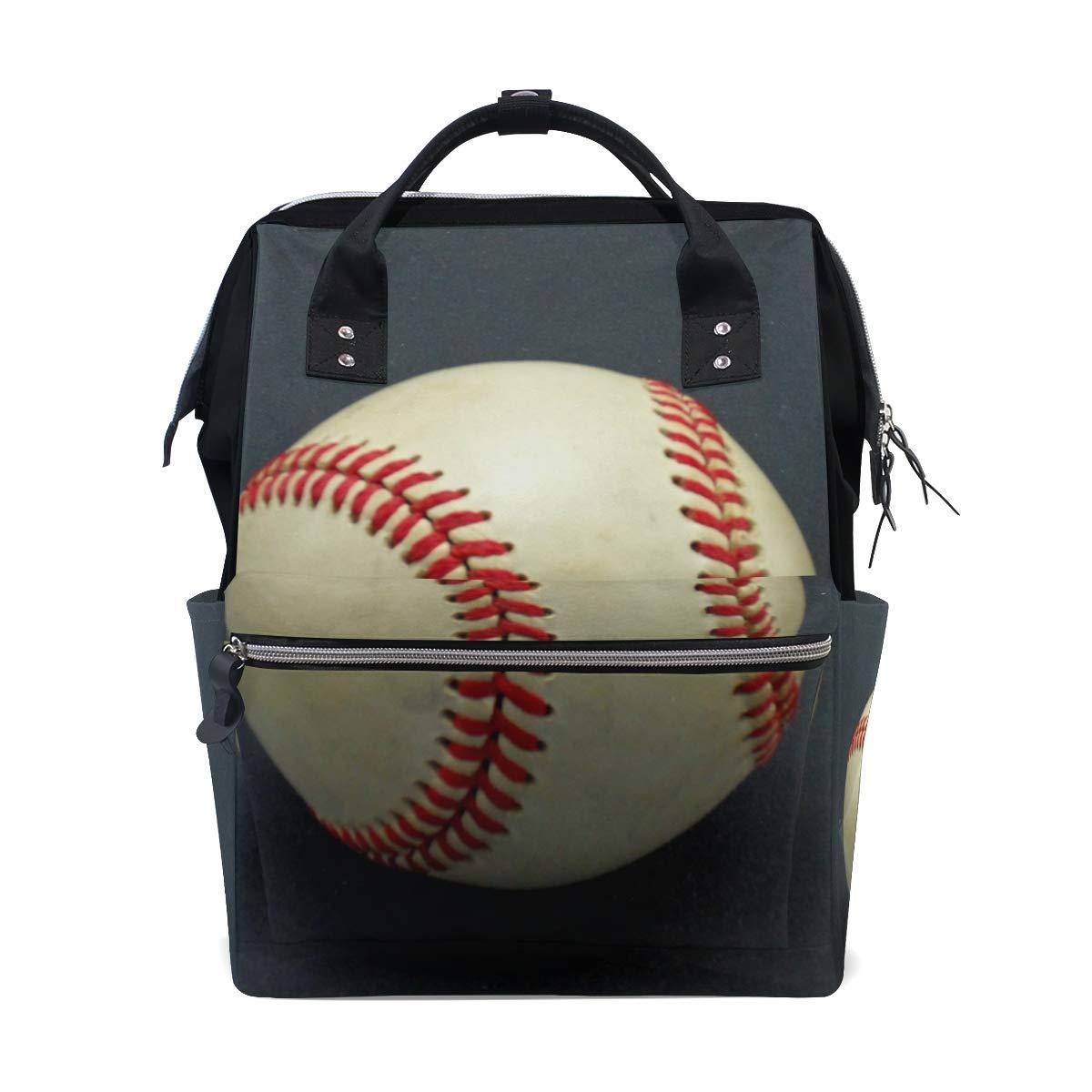 Amazon.com   Baseball Diaper Bag Backpack for Women Laptop Travel Backpack  Multi-Function Mummy Nappy Bags   Baby c9ebcd1056