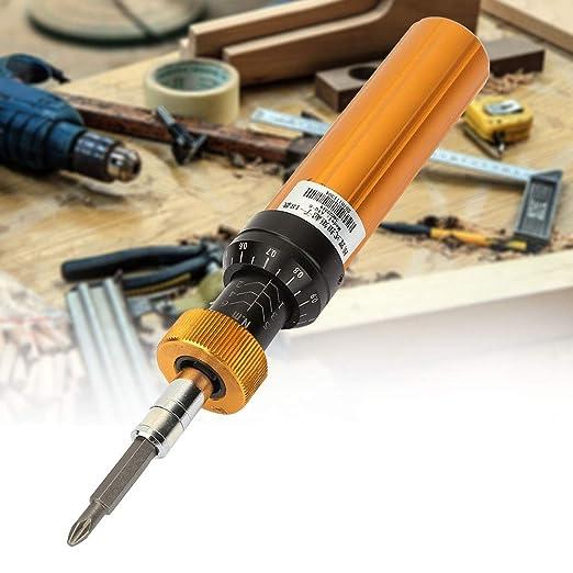 Alloy Steel Preset Type Adjustable Preset Screwdriver Adjustable Torque Prefabricated Type Handheld Maintenance Tool Torque Screwdriver 1Nm to 6Nm