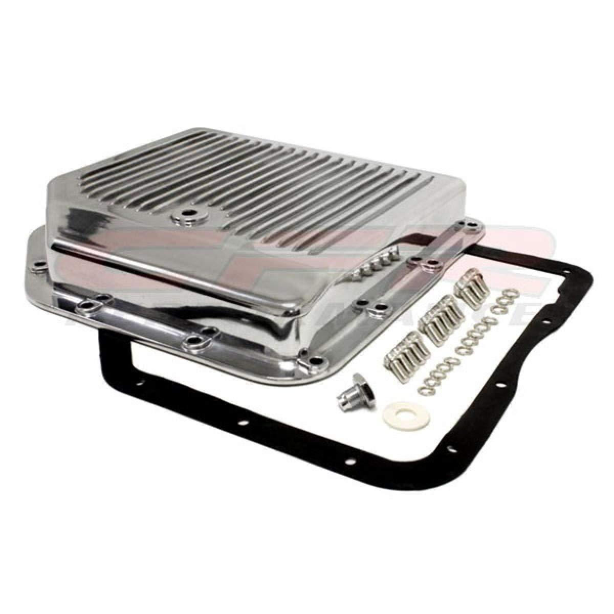Polished Chevy//GM Turbo TH-350 Aluminum Transmission Pan Kit
