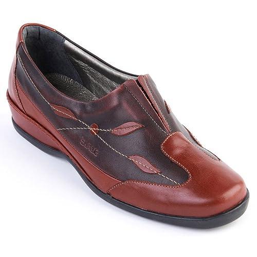 Suave - Mocasines para Mujer Rojo Rojo Oscuro, Color Rojo, Talla 37 EU: Amazon.es: Zapatos y complementos