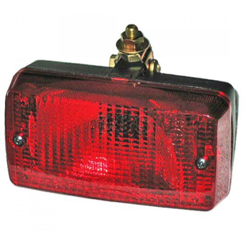 Rear Fog Lamp, 12v, c/w Mounting Bracket, Size: 140x70x65mm Maypole