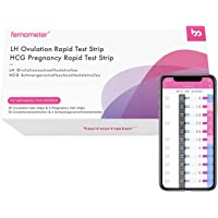 Femometer 20 Ovulation Test Strips and 5 Pregnancy Test Strips Combo Kit, Sensitive Fertility Predictor Testing Kits, Accurate Results with App (iOS & Android) Automatically Recognizing Test Results