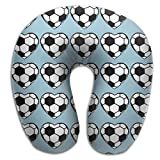 U Neck Pillow Soccer Hearts Airplane Office Travel Rest Memory Foam U Shape Pillow