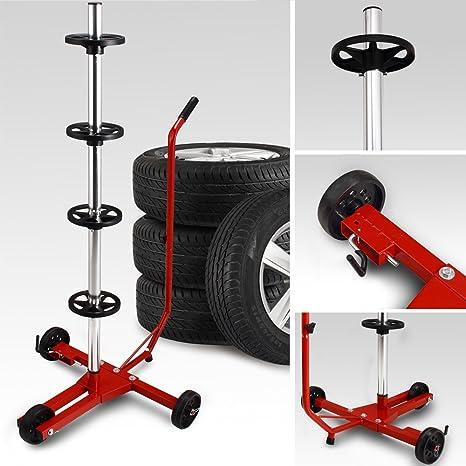 Soporte para ruedas | Con carro | Fácil transporte | Estable | Con funda protectora |