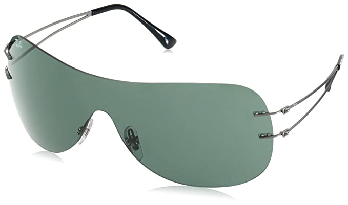 9030c886ff Image Unavailable. Image not available for. Color  Ray-Ban Titanium Unisex Sunglass  Shield ...