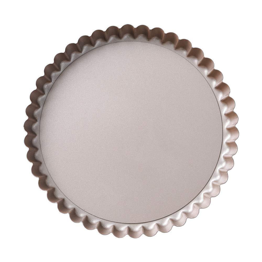 Bakerdream Round Non-stick Tart Pan Quiche Pan with Removable Bottom Flan Tin Mini Tart Pan Pie Pan with Loose Bottom, 7.87'' inch by Bakerdream