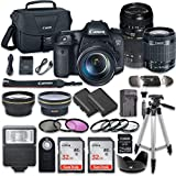 Canon EOS 7D Mark II 20.2MP CMOS Digital SLR Camera with W-E1 Wi-Fi Adapter, Canon EF-S 18-55mm f/3.5-5.6 IS STM Lens, Tamron Zoom Telephoto AF 70-300mm f/4-5.6 Autofocus Lens, Accessory Kit