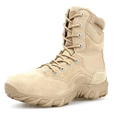 Amazon.com  PANY Men s 8 inch Coyote Military Boots Breathable Combat Boots  Commando Outdoor Desert Tactical Boots  Shoes bc1a4f783e