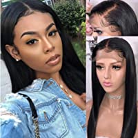 Straight Lace Front Wig Pre Plucked With Baby Hair Brazilian Virgin Remy Hair 150% Density Human Hair Wigs for Black Women 16inch