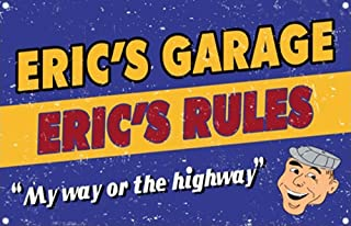 product image for Personalized My Way Or Highway Garage Metal Sign, Mechanic Sign, Auto Shop Sign, Dad's Garage Sign, Home Decor, Holiday Gift, Funny Gift, Birthday Present, Wall Art, Garage Art 999-00092