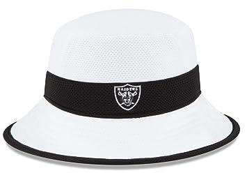 24759eaf2e0 Oakland Raiders New Era NFL 2015 Training Camp Sideline Bucket Hat - White