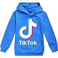 Sudadera para niña TIK Tok con capucha para deportes al aire libre, unisex