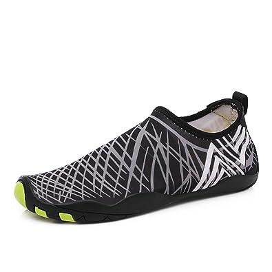 GOMNEAR Zapatos de Agua para Hombres Ligero para Caminar EN La Playa natación Zapatilla de Deporte Secado Rápido Pesca Crucero de canotaje Calzado Informal: ...