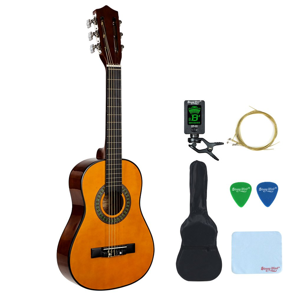 c33780388f 1/2 Size Classical Acoustic Guitar, Strong Wind 30