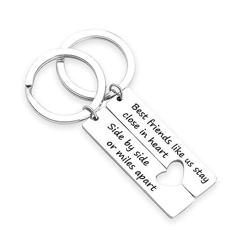 Amazoncom Zntina Best Friends Keychain Set Side By Side Or Miles