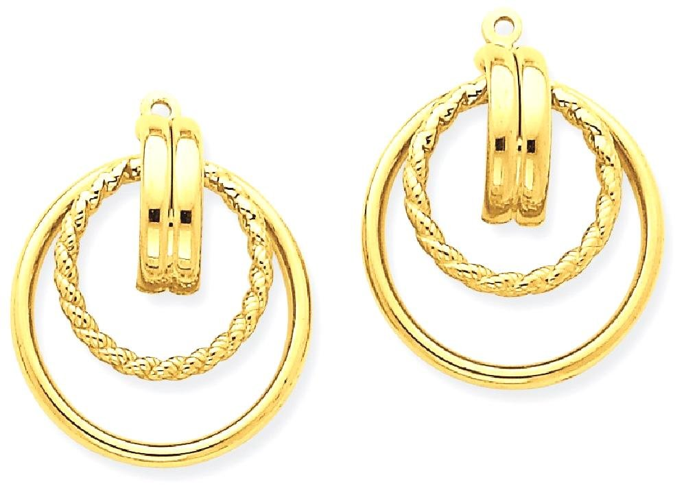 ICE CARATS 14k Yellow Gold Twisted Ear Jacket Earring Jackets For Studs Fine Jewelry Gift For Women Heart