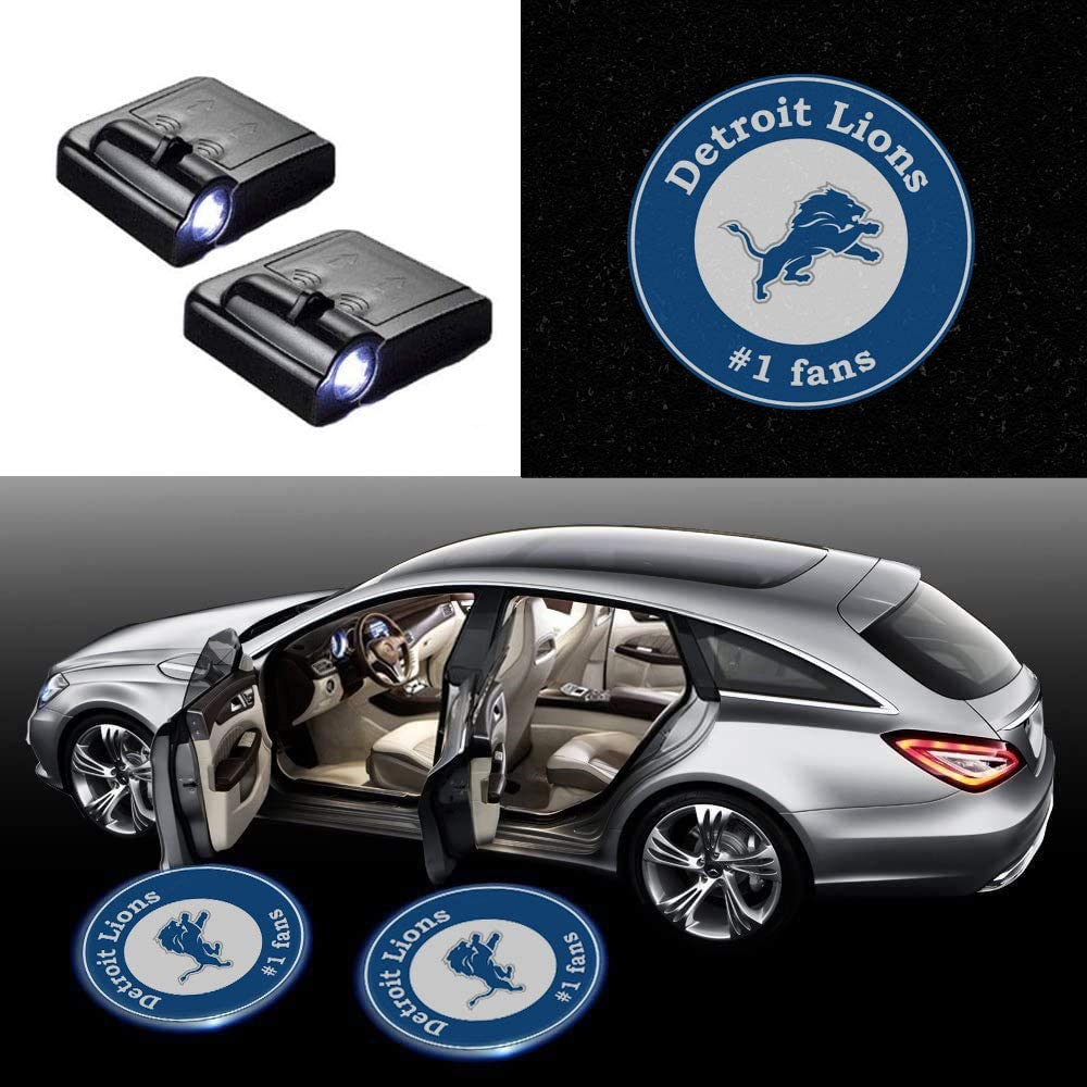 No Drilling Required 2pcs Fit for Pittsburgh Steelers Wireless Car Door Lights,Football Team Logo Led Laser Door Shadow Light Welcome Projector Lamp For Steelers