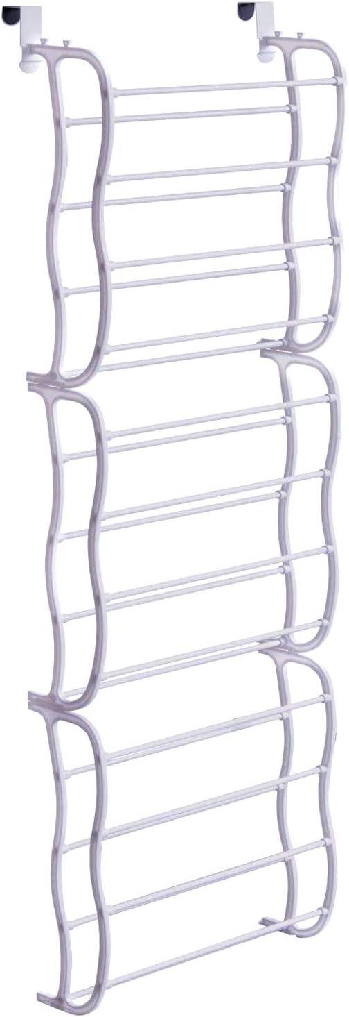"""ARyee Over The Door Shoe Rack - 36 Pairs- Storage Organizer, White (72"""" x 19"""")"""