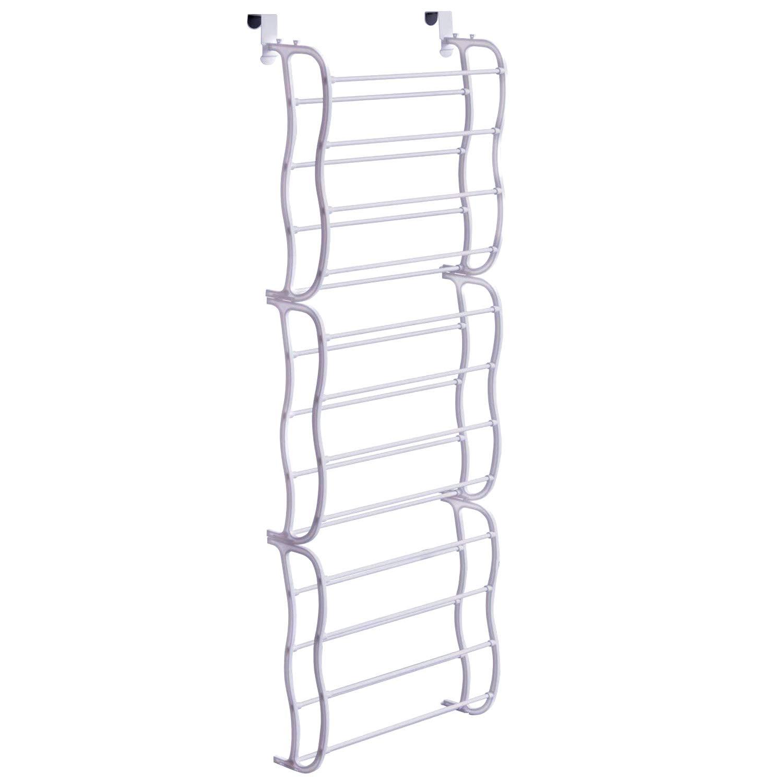 Fancy Buying Over The Door Shoe Rack Holder - 36 Pair Shoes Hanging Shelf Storage Shoe Organizer with Hooks