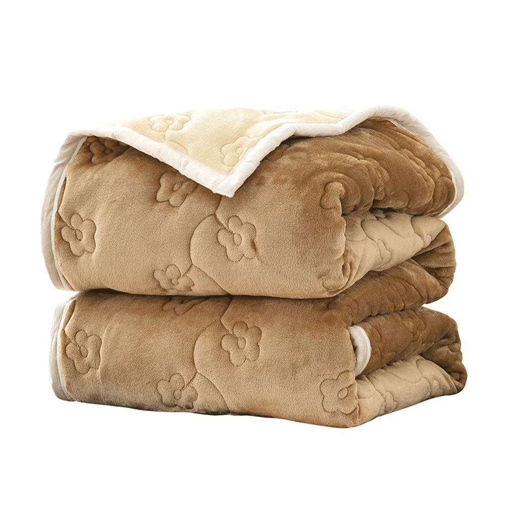 毛布、三層の厚いフランネル毛布 キャメル、暖かい冬の印刷毛布ベットレフランネルフリース高級毛布グレーツインサイズ軽量居心地の良いマイクロファイバーソリッド 180X200cm (色 : キャメル, サイズ さいず : : 180X200cm) 180X200cm キャメル B07Q2M3821, 大川家具工房:ac1209bc --- ijpba.info