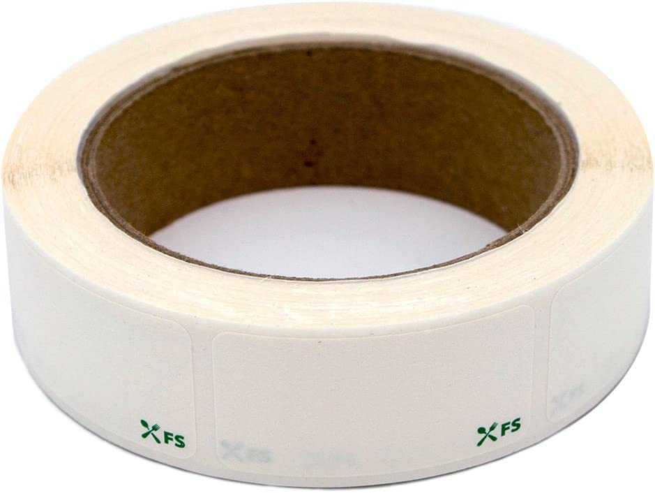 Food Labels Dissolvable by Food Safe - Leaves No Adhesive Residue Dissolves in Water in 30 Seconds Perfect for Reusable Containers - 500 Labels Per Roll : Garden & Outdoor