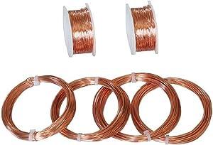 Solid Copper Assorted Sample Round Wire 18, 20, 22, 24, 26, 28 Ga (Dead Soft)