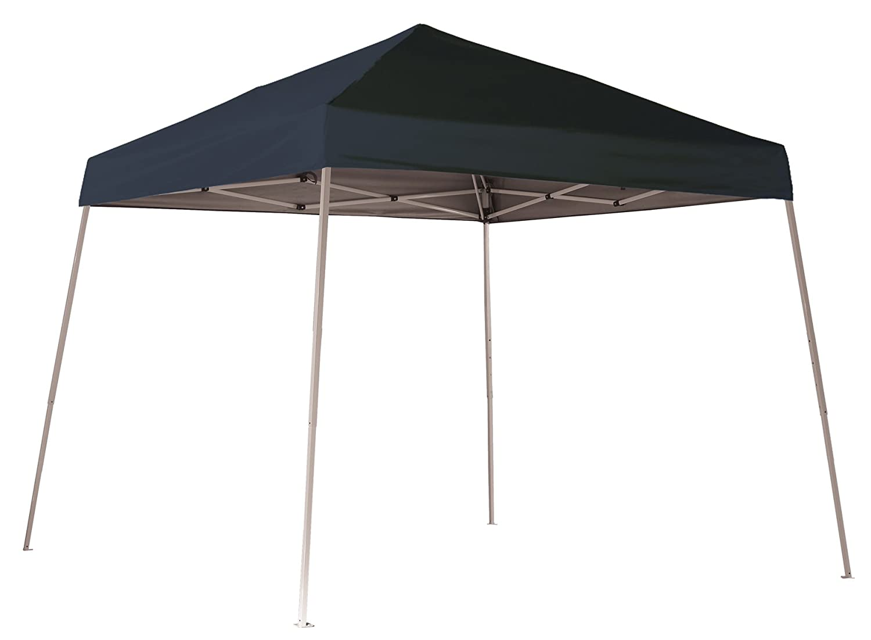 10x10 Slant Leg Pop Up Canopy Checkered Flag Cover Black Roller Bag