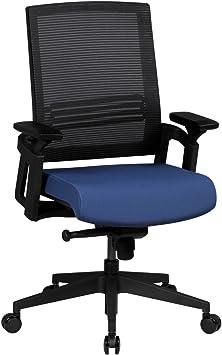 Bürostuhl Schwarz Ergonomisch mit Armlehnen Drehstuhl Stoff Büro Sessel 120KG