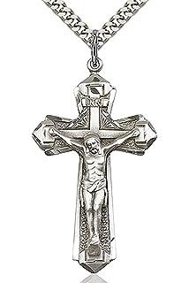 Heartland store mens crucifix pendant silver accents cross bar heartland mens sterling silver textured crucifix pendant best quality usa made aloadofball Images