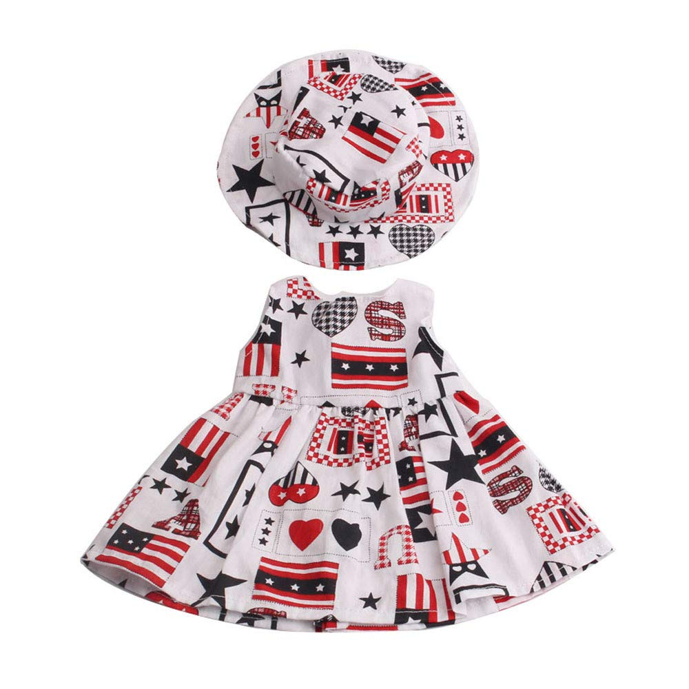 American Girl My Life Puppen Blumenkleid Hut Set 2 St/ück Uteruik Ausgefallene Kleidung Outfit f/ür 18 46cm # 1