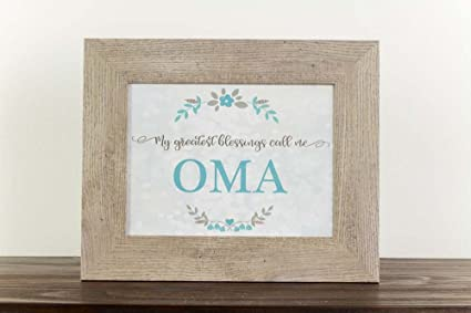 Amazon.com: My Greatest Blessings Call Me Oma Grandma Gift ...