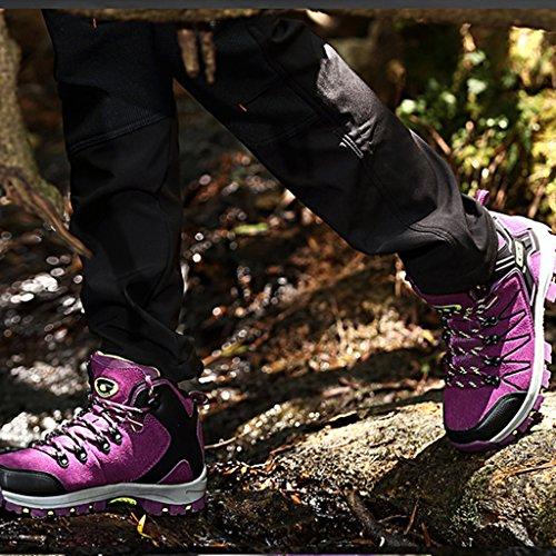 Beiläufige Outdoor Schuhe Damen Sharplace Sports Lila Herren Wandern Bergstiefel Wasserdicht Stiefel Wasserdichte 07wwE1xq
