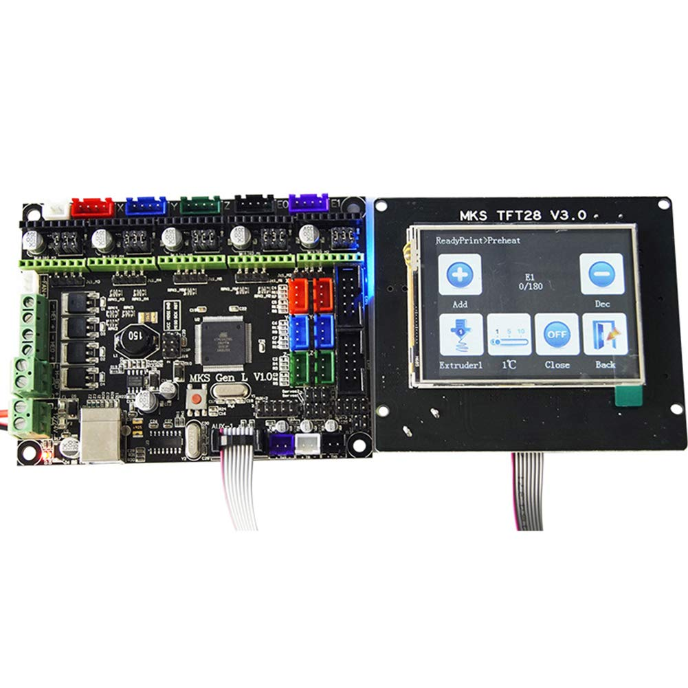 3D Printer Module Board - MKS GEN L Mainboard Control Board + TFT28 LCD 2.8 inch Touching Display+ USB Cable+ Flat Cable, 3D Printer Accessories(as Shown) by YOTHG (Image #3)