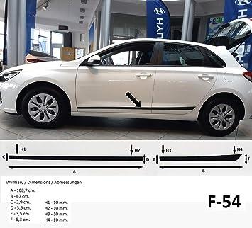 Spangenberg Listones de protección Lateral, Color Negro, para Hyundai i30 III Tipo PD a Partir de año de construcción 01.2017- F54 (370005401): Amazon.es: ...