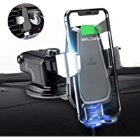andobil Wireless Car Charger Mount, Automatic 10w Qi Fast Charging Car Phone Holder Air Vent&Dashboard Compatible with iPhone Xs/Xs Max/XR/X / 8/8 Plus, Samsung Galaxy Note 9/ S9/ S9+/ S8/ S8+