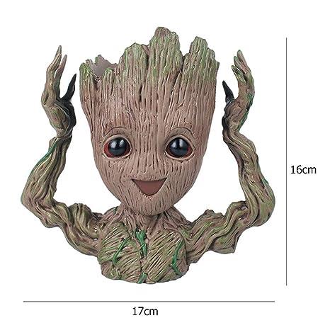 Amazon Com Baby Groot Flowerpot Flower Pot Planter Action Figures