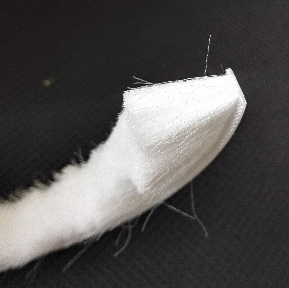 9 mm x 9 mm Gray 5m Self-Adhesive Brush Pile Draft Excluder Strip High-Density Felt-Draft Air Eccentric Weather Stripping for Sliding Doors Insulation Windows Frame Wardrobes Gap Seal