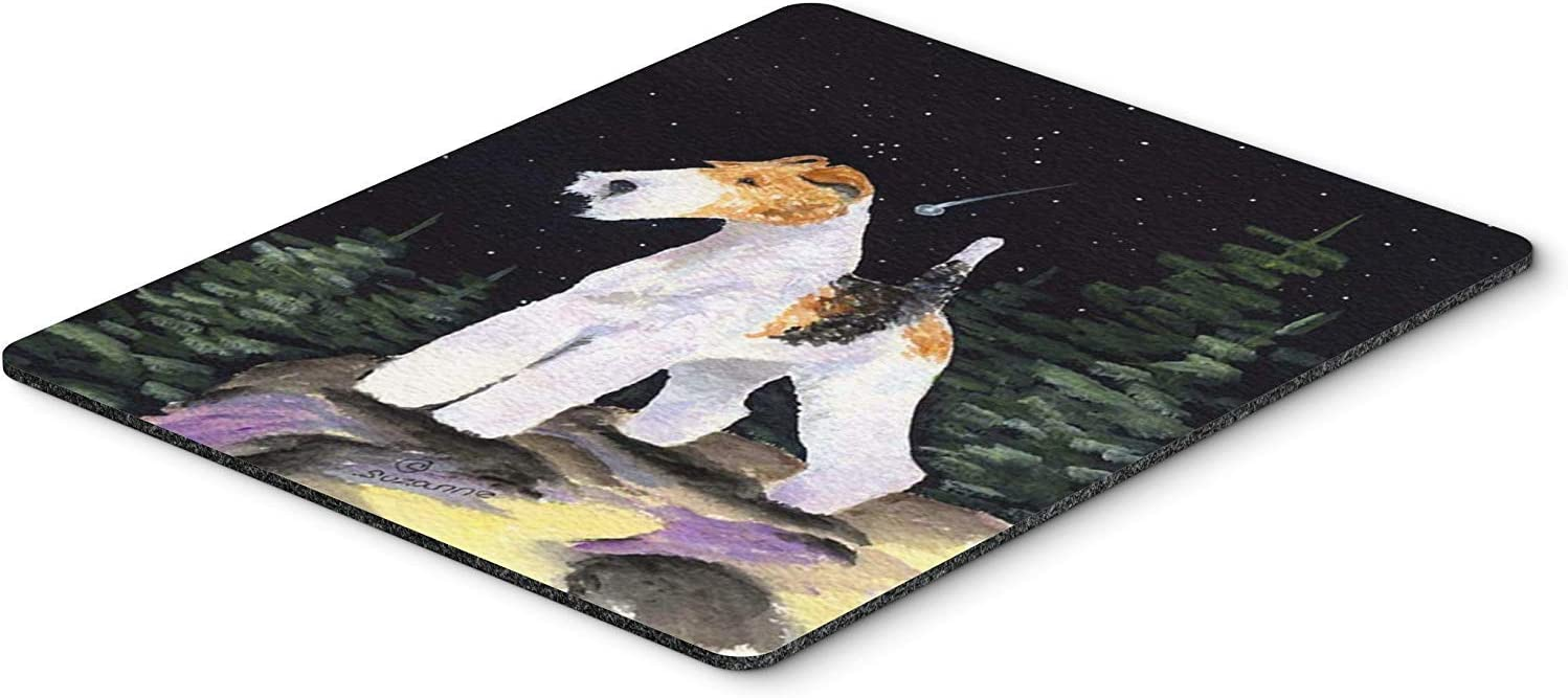 Caroline's Treasures SS8503MP Starry Night Fox Terrier Mouse Pad/Hot Pad/Trivet, Large, Multicolor [並行輸入品]