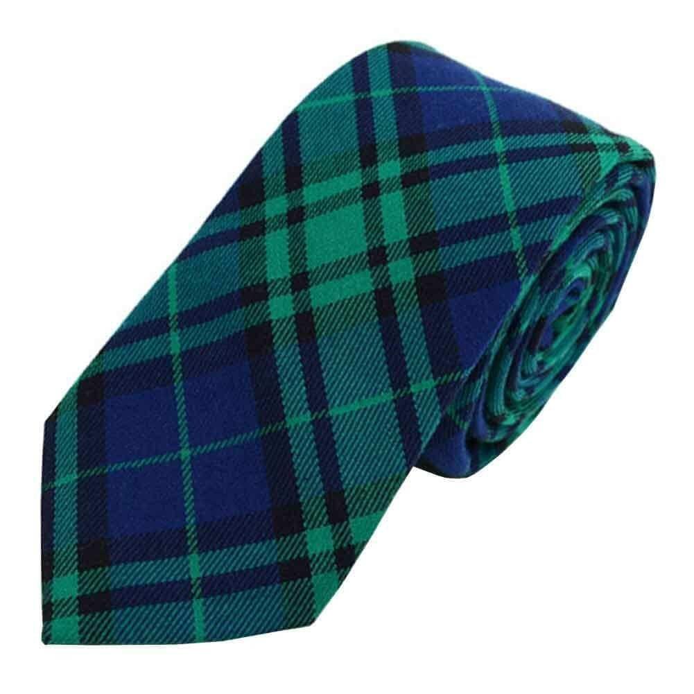 Men's Hipster 100% Cotton Plaid Flannel Skinny Narrow Necktie Tie (Navy Blue & Green)