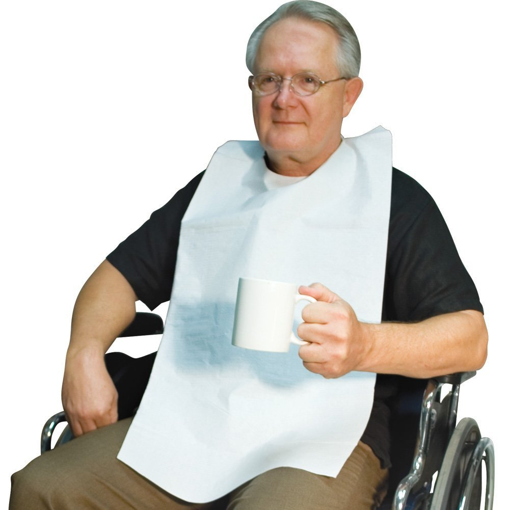 Cornett Disposable Adult Over The Head. Protect Clothes from Spills.16'' X 33''. (Over Head - Case of 300)