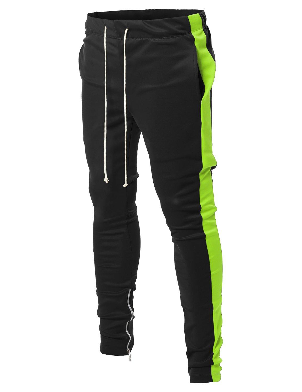 Style by William PANTS メンズ B07B8V4MPR Medium|Fsmptl0003 Black Neon Green Fsmptl0003 Black Neon Green Medium